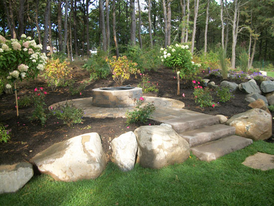 Stone Firepits Outdoor Bbq Grilling Manorville Long